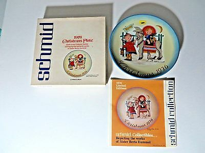 "1976 Sister Berta Hummel Christmas Plate ""Sacred Journey""6th Limited Edition NOS"