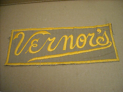 Vintage Original Embroidered 1950's Vernor's Large Jacket Back Patch 10X4 In.