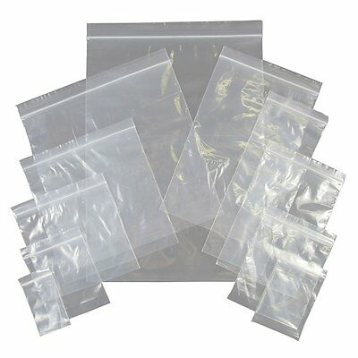 Clear Plastic Poly Grip Self Seal Resealable Zip Lock Mini Bag Jewellery 10x15cm
