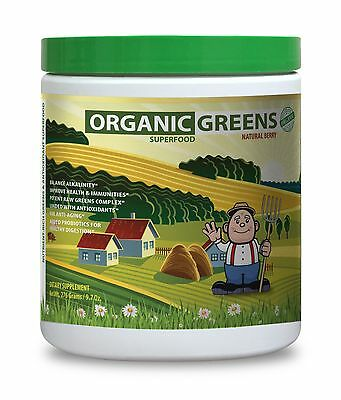 Greens - Organic Greens Superfood Natural Berry - Fruit and Veggie Daily Need 1C