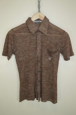 vtg 60s FRED PERRY MOD BIG COLLARED OLDSCHOOL RARE RETRO CASUALS SHIRT SIZE XS