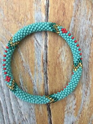 Roll On Gl Beaded Bracelet Nepal Bead 100 Handmade Bangle Gift
