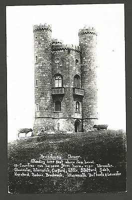 Real Photo, Broadway Tower, Worcestershire. Unused and Unposted.