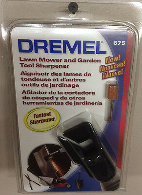 Dremel #675 Lawn Mower & Garden Tool Sharpener Attachment New In Sealed Package