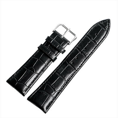 Classic Mens Women 18mm 20mm 22mm 24mm Wrist Watch Band Genuine Leather Strap