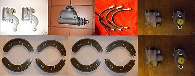 MG TD TF T Type MGT WHEEL CYLINDERS x6 HOSES x3 BRAKE MASTER CYLINDER, SHOES x2