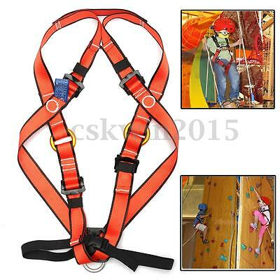 Children Full Body Safety Harness Sit Seat Bust Rappelling Tree Climbing Belt