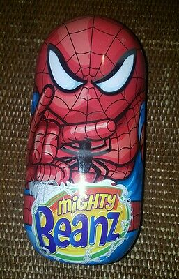 """LARGE SPIDERMAN TIN - EMPTY - Mighty Beanz - 10"""" Tall"""