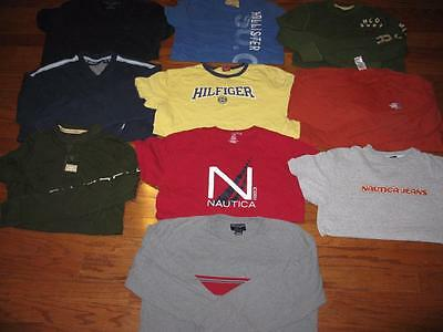 Lot Of 10 Adult Mens T Shirts Hollister Tees Nautica Tommy North Face All Large