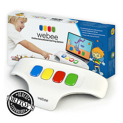 WEBEE Children Keyboard 4 Colors Development Games System Age 1-5 Blue Pack GIFT