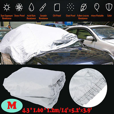 NEW Universal Full Car Cover UV Protection Waterproof Breathable Outdoor Size M