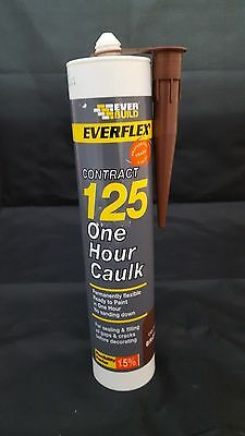 Everflex 125 One Hour Caulk Everbuild Decorators Filler Sealant Brown