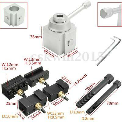 Mini Quick Tool Post & Holder Kit Change For 7 x 10 12 14 Lathes Accessory Set