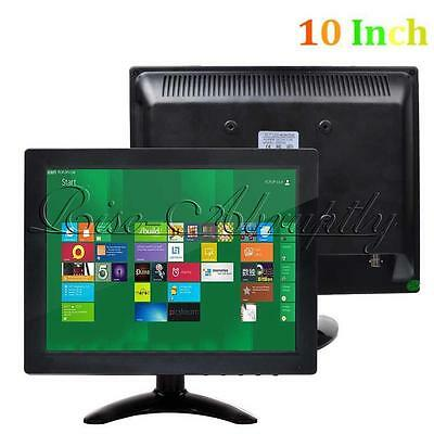 "10"" Inch TFT LCD Color CCTV Monitor PC TV Screen RCA/VGA/BNC/HDMI Video Security"