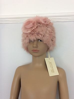 Microbe By Miss Grant Pink Fur Hat Brand New Rrp €49.95 Rose Age 4-5 Years
