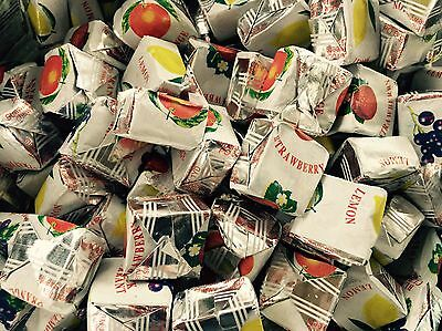 FRUIT CARAMELS 200g, CLASSIC BRITISH RETRO CHEWY SWEETS, UK IMPORT