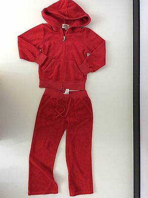 Juicy Couture Girls Terry Towel Tracksuit, Size Age 4 Years, Red, Hoodie Bottoms