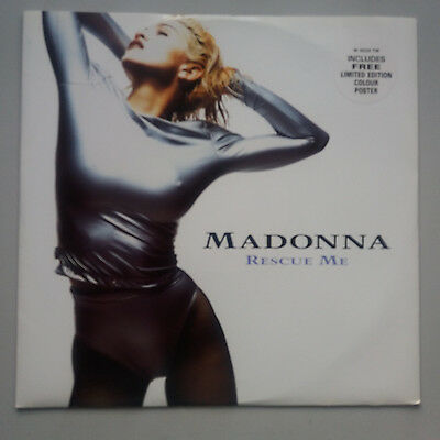 """Madonna - Rescue Me 12"""" Vinyl Single Limited Edition With Poster NM Unplayed"""