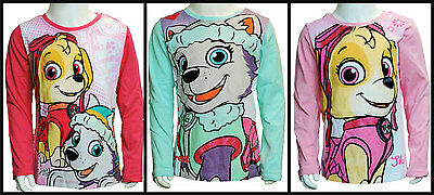 Girls Winter Paw Patrol Long Sleeve T-Shirt/cotton top age 3 years up to 8 years