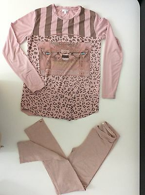 Miss Grant 2 Piece Outfit Set Age 11 Years / 40 Pink Legging & Long Sleeve Top