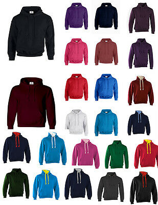 New Adult 31 Colours Hoodie Unisex Top Xxs-3Xl Fleece Jumper Work Wear Plain Bnw