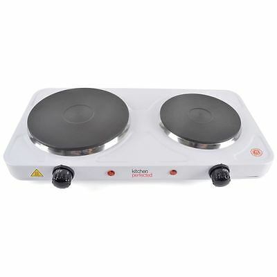 Lloytron Electric Portable 2500W Double Hob Table Top Cooker Hotplate New