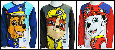 Boys Winter Paw Patrol Long Sleeve T-Shirt/cotton top age 3 years up to 8 years