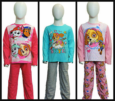 Girls Winter Paw Patrol Long Sleeve Pyjamas/nightwear age 3 years up to 8 years