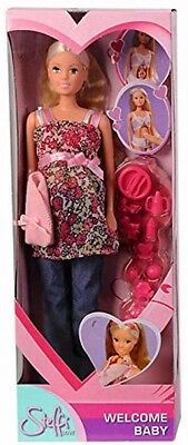 Steffi Love Welcome Baby Pregnant Barbie Doll Belly Removable Tummy Accessories
