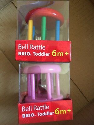 Brio Wooden Bell Rattle Bundle New And Sealed