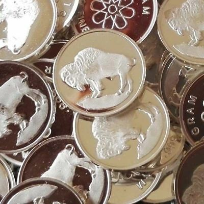 Buffalo / Lot of 30 - 1g .999 Fine Silver Round Bullion / Silver Coin oz RE316