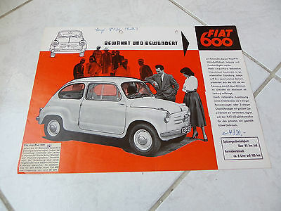 Fiat 600 dépliant catalogue brochure prospekt catalog