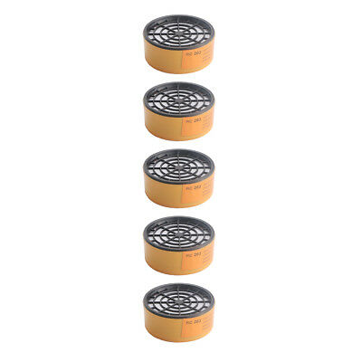 5x Activated Carbon Antigas Filter Cartridge Box Gas Mask Respirator Replacement