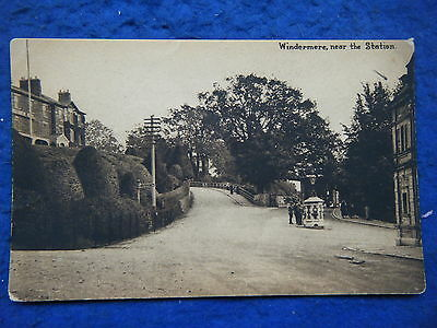 Windermere: View Near The Station - Scarce Mallinson Real Photo Postcard!