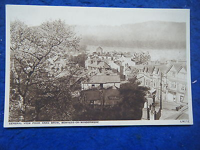 Bowness: View From Crag Brow - Scarce Real Photo Postcard!