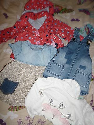 Small Girls Bundle Age 9-12 9/12 Disney Next Pinafore Coat Dress All In One