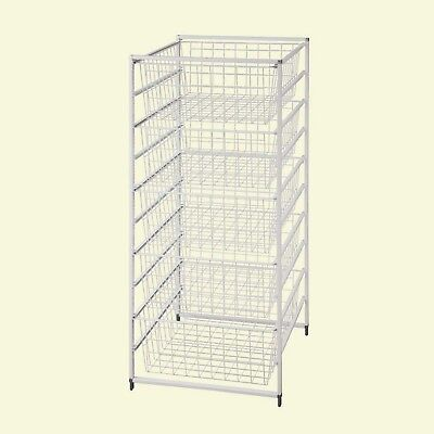 ClosetMaid Drawer Kit 41 In. Ventilated Wire Rack 5 Baskets Epoxy Coated  Steel
