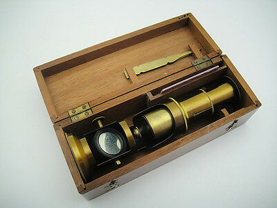 1900 Antique Microscope Campaign Outdoor Discovery Scientific Exploration Vtg #1