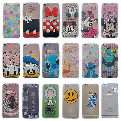 Funda Carcasa TPU Transparente Iphone 6/6S/7 - Disney Minnie & Mickey Stitch