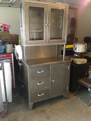 Vintage blickman kennedy medical cabinet  100% surgical stainless steel
