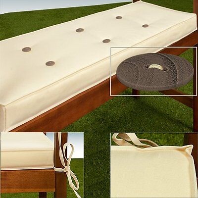 Garden 2 Seater Bench Cushion Pad Cover Water Repellent 100% Polyester +OTHER