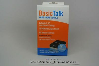 BasicTalk HT701 Home Phone Service - 1st Month Free - Brand New & Free Shipping!