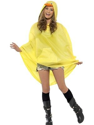New Adult Unisex Duck Party Poncho Costume Accessory