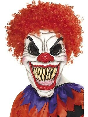 Adult Male Scary Clown Mask, Foam Latex Halloween Smiffys Costume Accessory
