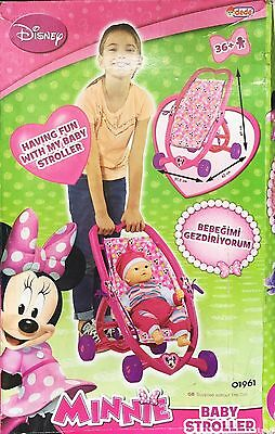 Dede Minnie Mouse Heart Dolls Pushchair Pink Baby Stroller C. FREE shipping.