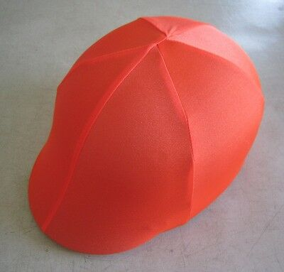 Horse Helmet Cover ALL AUSTRALIAN MADE All Orange  Any size you need