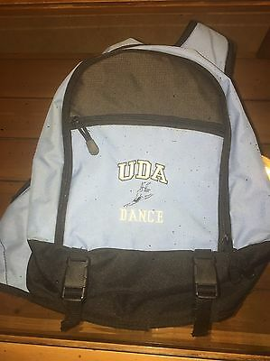 UDA Dance Bag - Sling Backpack - Baby Blue and Black