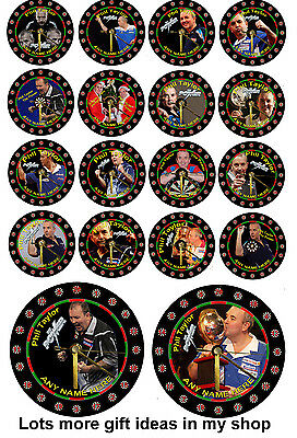 Phil The Power Taylor cd clock, Gift Box, Stand, Darts, Birthday, Personalised,
