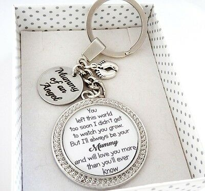 S.keyring - Left Too Soon Mummy of an Angel disc,Babyloss, miscarriage,loss 2