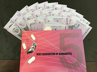 2016 New $5 dollar note AA First PREFIX Unc NEXT GENERATION BANKNOTE rare!!